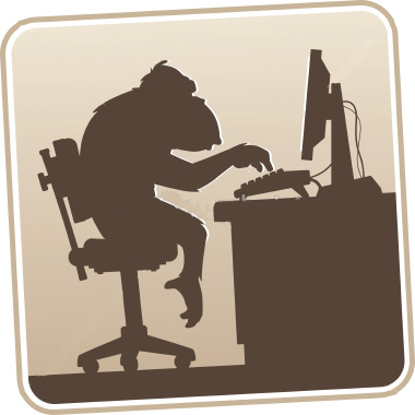 stock-illustration-1466716-silhouette-computer-monkey